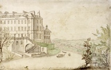 Site of the ferry below South Parade over the River Avon, Bath c.1740-1770
