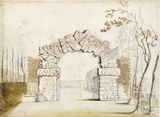 Rustic Stone Arch within the Grounds of Lilliput Castle, Lansdown, Bath 1760