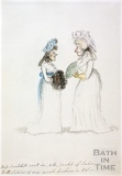 Watercolour sketch for Anstey's Bath Guide No. 12 c.1815