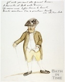 Watercolour sketch for Anstey's Bath Guide No. 53 c.1815