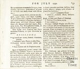 The European Magazine, Annotationes, July 1792 verso