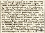 Obituary of Dr Caleb Hiller Parry March 15th 1822