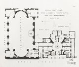 Plan 1 of the Grand Pump Room, King and Queens Private Baths with the improvements made in 1854