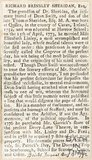 Biography of Richard Brinsley Sheridan Esq. August 4th 1792