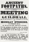 Poster Ancient Footpaths, October 11th 1852