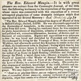 The Rev. Edward Mangin September 30th 1819