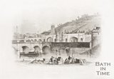 Old Bridge and Railway Viaduct Bath, 1850.
