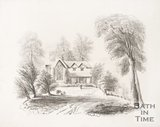 Print of Butt Ash Cottage, Widcombe Bath, 1854.