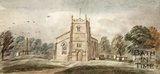 Watercolour of Twerton Church.