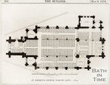 A floor plan of St Andrews Church, Walcot, Bath. 1874.