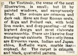 Newspaper article describing the Vestibule, Beckford's Tower, 1844