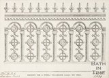 The railing for a tomb at Lansdown Cemetery, 1851