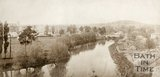 Early photograph of the River Avon looking towards Grosvenor Suspension Bridge, c.1860