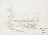Ink sketch of the Dundas Aqueduct, 1818
