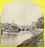 Pulteney Bridge and fish markets, Bath 1863