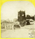 Widcombe Manor and church, Widcombe, Bath c.1870