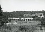 The A36 viaduct at Limpley Stoke, near Bath, c.1960