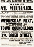 Public Notice Election Poster For The Ward Of St Michael, Bath, 1848