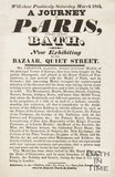 Advertisement For Exhibition of Model Of Paris, Quiet Street, Bath, 1826