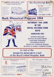 Poster Advertising Bath Historical Pageant 1984