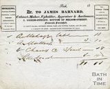 Trade Card for James BARNARD 2 Green Street, Bath 1820-33