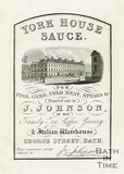 Trade Card for J. JOHNSON George Street, Bath 1837