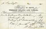 Trade Card for W. KENT 6 Bladud Buildings, near the York House, Bath 1841