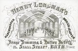 Trade Card for Henry LONGMAN 13 Stall Street, Bath