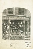Trade Card for PHILLIPS & Willcox 34 Milsom Street, Bath 1863