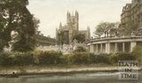 Bath Abbey viewed from Parade Gardens, Bath, c.1940s