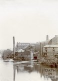 Rear of Carr's Mills, Twerton, Bath, c.1890s