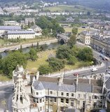 Aerial view from Bath Abbey July 1982