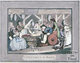 The Comforts of Bath by Thomas Rowlandson, Plate 4, 1798
