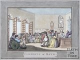 The Comforts of Bath by Thomas Rowlandson, Plate 3, 1798