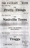 Flyer or Poster for The Pretty Things, The Nashville Teens and The Troggs at The Pavilion, Bath, 1966