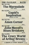 Flyer or Poster for The Marmalade, Cupid's Inspiration, Amen Corner, John Mayall's Bluesbreakers and The Crazy World of Arthur Brown at The Pavilion, Bath, 1968
