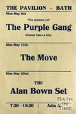 Flyer or Poster for The Purple Gang, The Move and The Alan Bown Set at The Pavilion, Bath, 1967