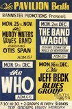 Poster for The Muddy Water's Blues Band featuring Otis Span, The Band Wagon, The Who and The Jeff Beck Blues Group, 1968