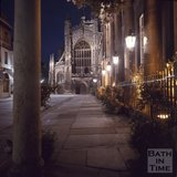 Bath Abbey and the Pump Room, Bath at night time, c.1975