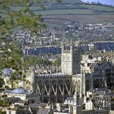 Bath Abbey, viewed from Beechen Cliff, c.1980
