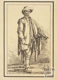 Rustic figure with sickle sketched from life by Thomas Barker, c.1800