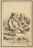 Rustic figure two seated boys with bowl of fruit or vegetables sketched from life by Thomas Barker, c.1800