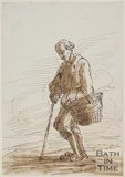 Sketch of a beggar by Thomas Barker (1769 - 1849)