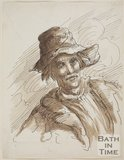 Sketch of a man with a hat by Thomas Barker (1769 - 1849)
