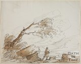 Sketch of The Storm, a nature study by Thomas Barker (1769 - 1849)