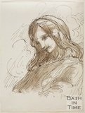 Sketch of a girl with long hair by Thomas Barker (1769 - 1849)