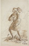 Sketch of a man in armour - The Last Stand by Thomas Jones Barker (1815 - 1870
