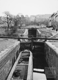 Lower Locks beside Waterloo Buildings, Widcombe, Bath 1956