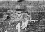 Detail of north wall of tail of Chapel Lock showing damaged masonry, Widcombe, Bath 1956