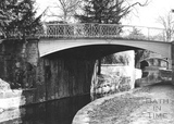 Upstream face of carriage drive bridge, Sydney Gardens, Bathwick, Bath 1956